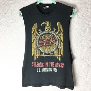 Vtg 1990's Slayer Destroyed Tee Shirt adult sm